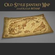 Old Fantasy World Map 3d model