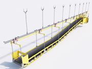 bande transporteuse minière 3d model