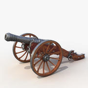 Field cannon 3d model