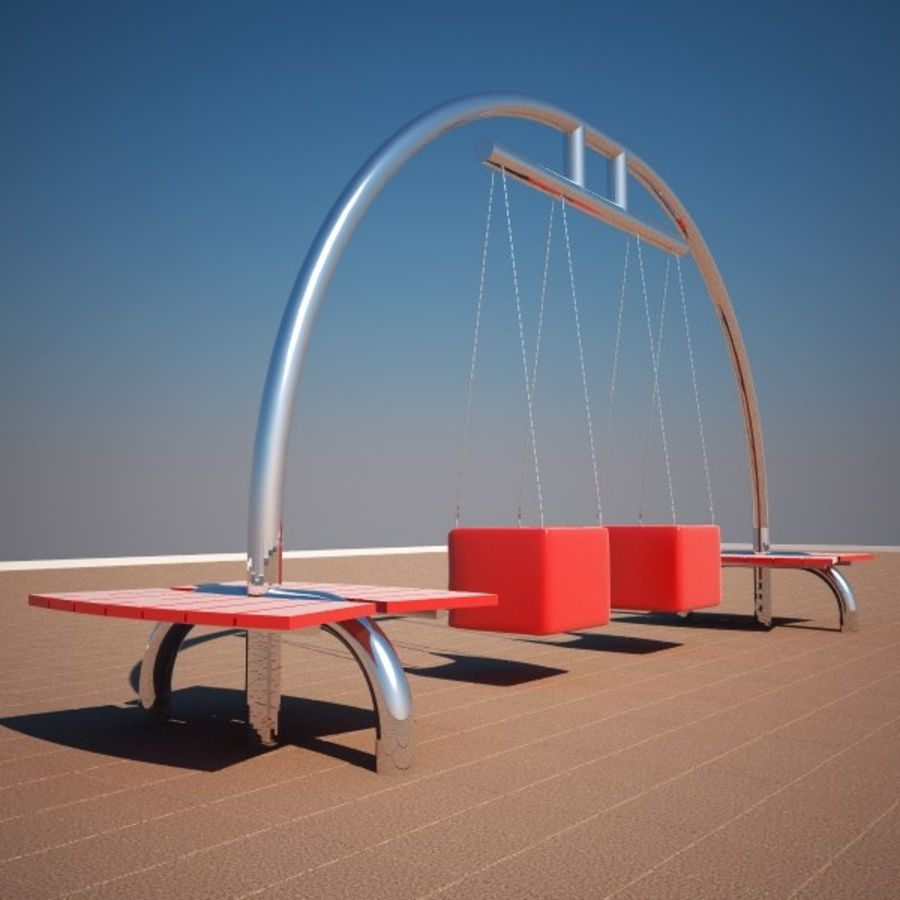 Big Swing royalty-free 3d model - Preview no. 5