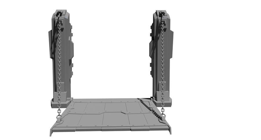 Ворота High Poly royalty-free 3d model - Preview no. 3