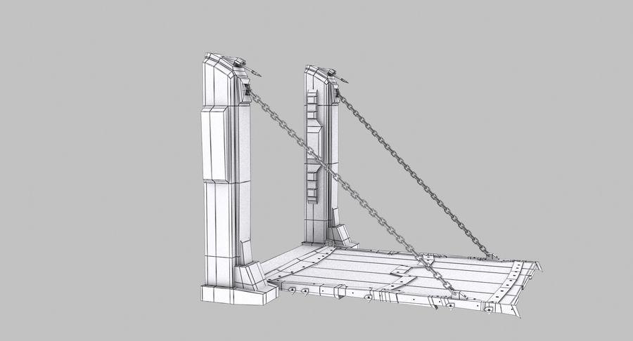 Ворота High Poly royalty-free 3d model - Preview no. 8
