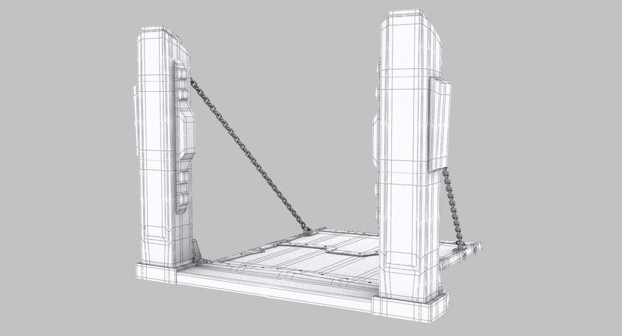 Ворота High Poly royalty-free 3d model - Preview no. 11