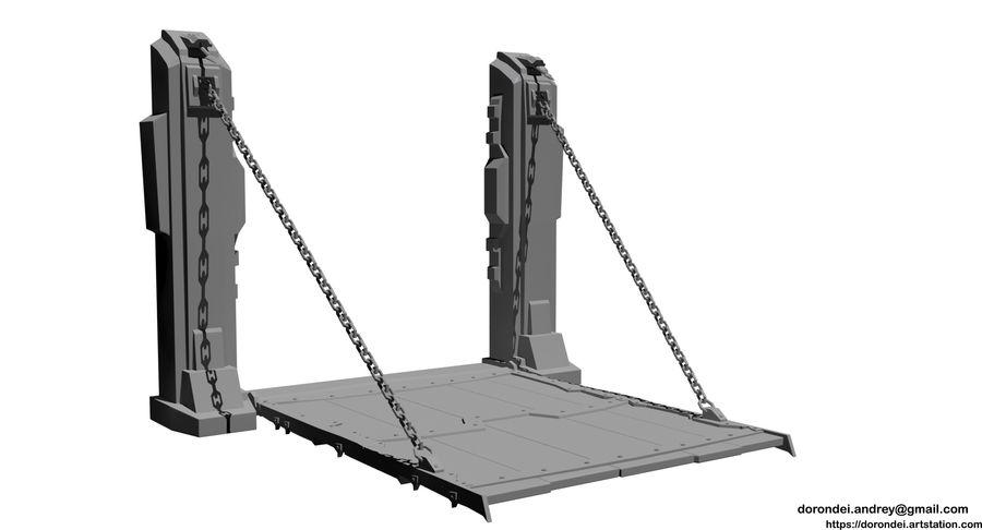 Ворота High Poly royalty-free 3d model - Preview no. 1