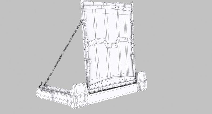 Ворота High Poly royalty-free 3d model - Preview no. 13