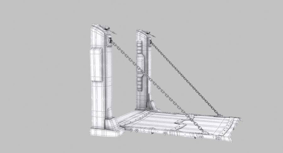 Ворота High Poly royalty-free 3d model - Preview no. 9