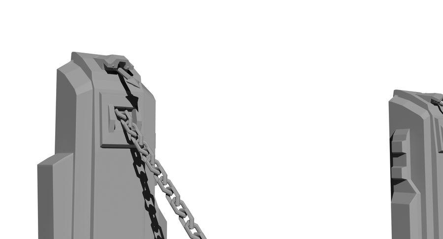 Ворота High Poly royalty-free 3d model - Preview no. 6
