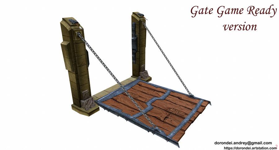 Ворота High Poly royalty-free 3d model - Preview no. 7