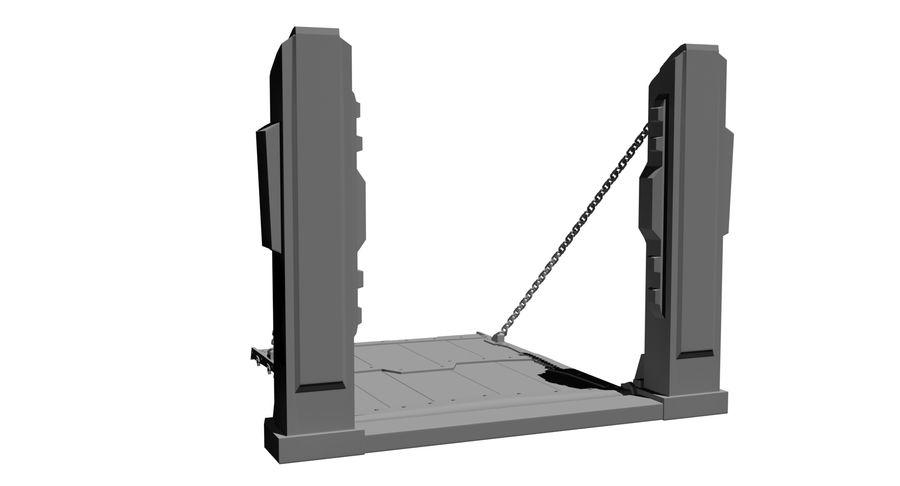 Ворота High Poly royalty-free 3d model - Preview no. 5