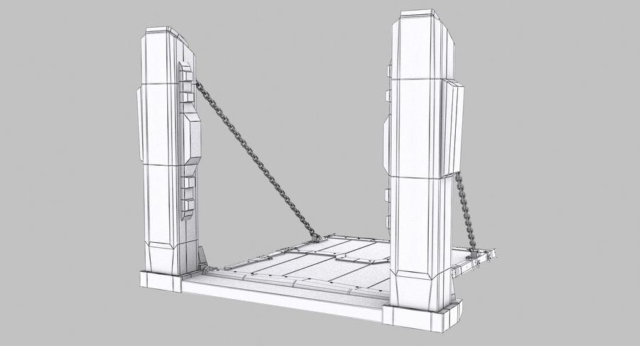 Ворота High Poly royalty-free 3d model - Preview no. 10