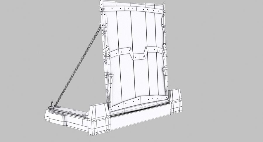 Ворота High Poly royalty-free 3d model - Preview no. 12