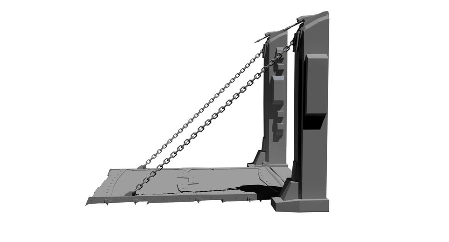 Ворота High Poly royalty-free 3d model - Preview no. 4