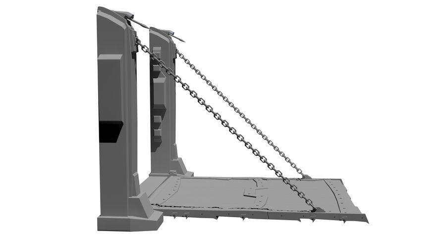 Ворота High Poly royalty-free 3d model - Preview no. 2
