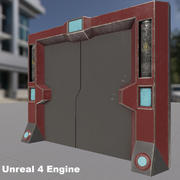 SciFi Gate 3d model