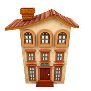 мультфильм дом высокий 3d model