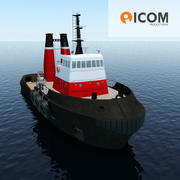 Tugboat type Twin Screw 43m length 3d model