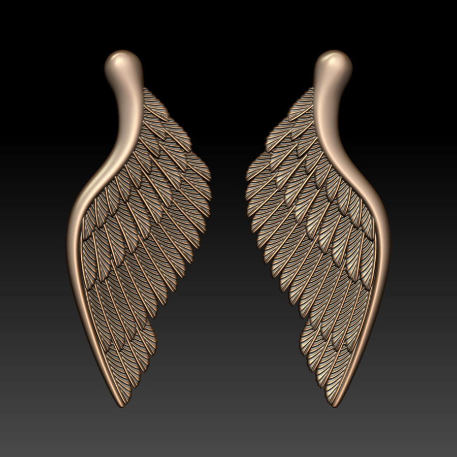 Wings royalty-free 3d model - Preview no. 6