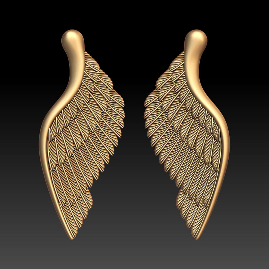 Wings royalty-free 3d model - Preview no. 1