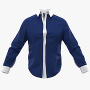 Niebieska koszula 3d model