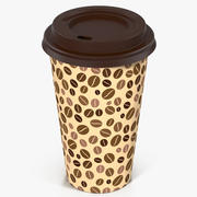 Coffee Cup Empty Takeout Design 4 3d model