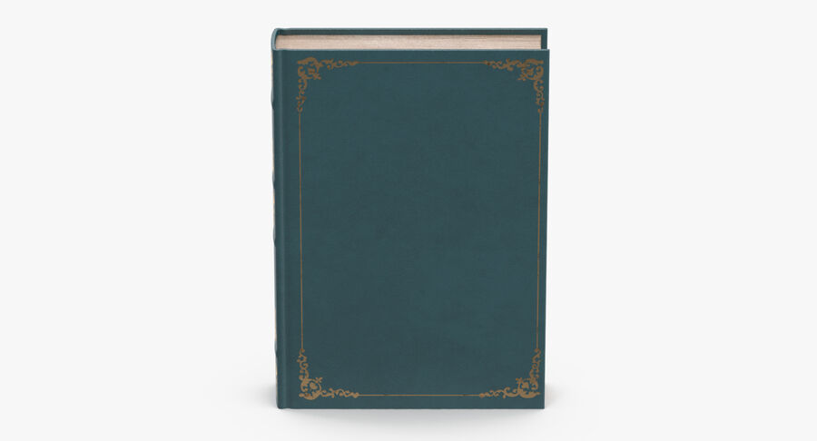 Klassisches Buch 04 Stehend royalty-free 3d model - Preview no. 4