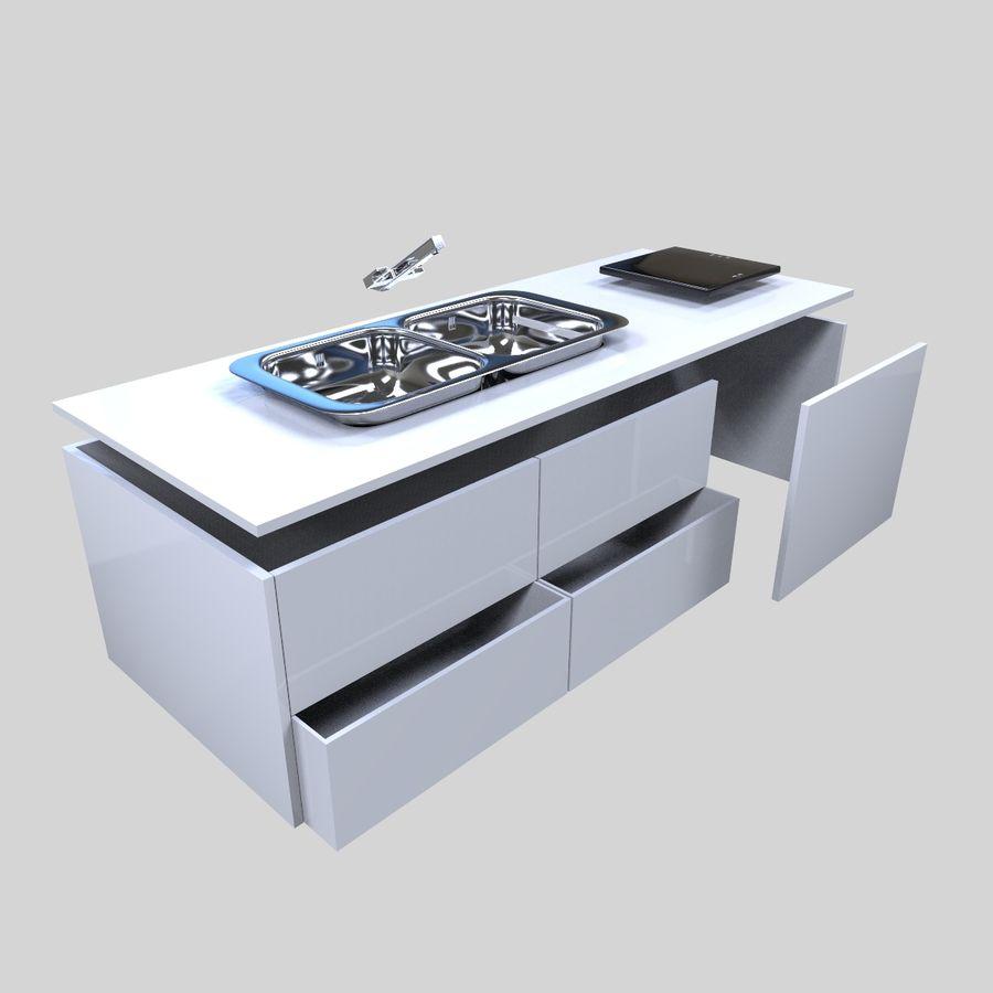 Muebles de cocina royalty-free modelo 3d - Preview no. 14
