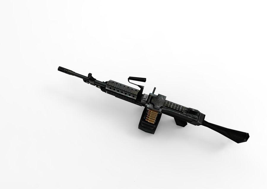 machine gun  low poly royalty-free 3d model - Preview no. 13
