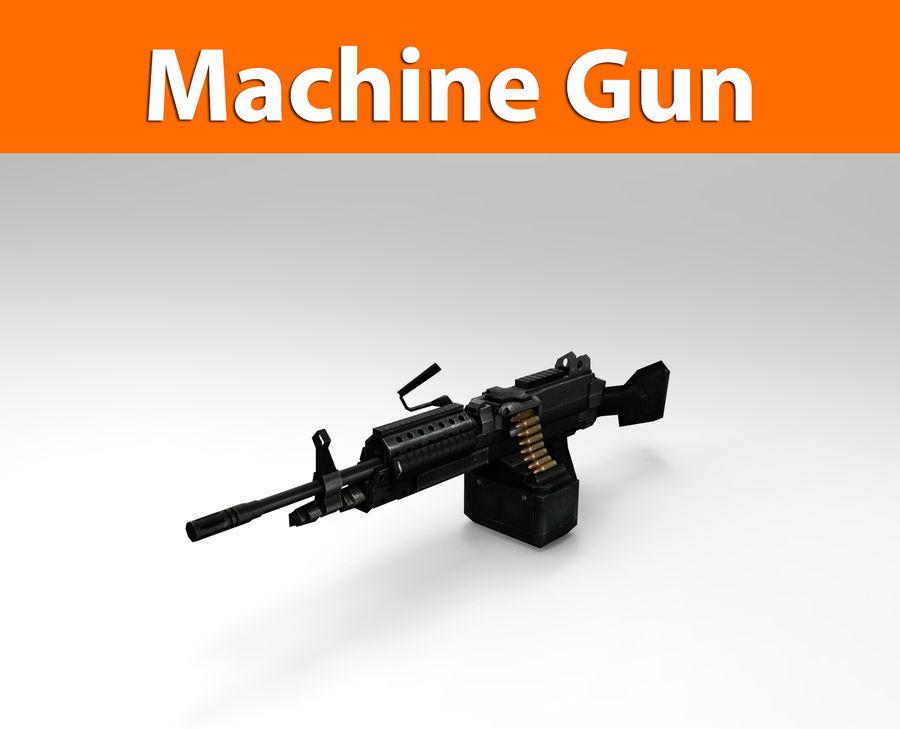 machine gun  low poly royalty-free 3d model - Preview no. 1