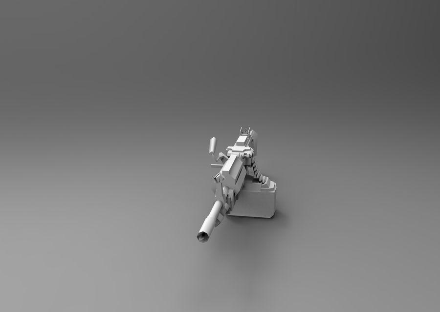 machine gun  low poly royalty-free 3d model - Preview no. 15