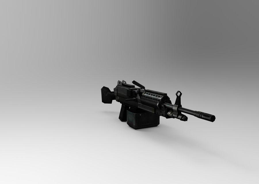 machine gun  low poly royalty-free 3d model - Preview no. 9