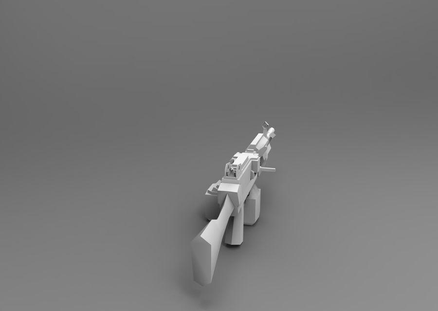 machine gun  low poly royalty-free 3d model - Preview no. 19