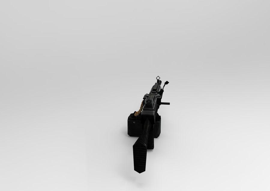 machine gun  low poly royalty-free 3d model - Preview no. 5