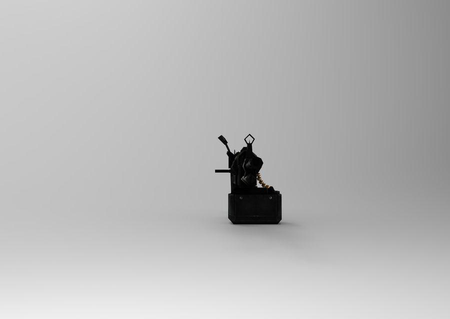 machine gun  low poly royalty-free 3d model - Preview no. 10