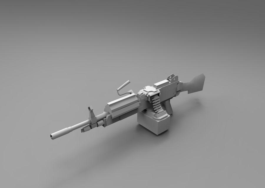 machine gun  low poly royalty-free 3d model - Preview no. 14