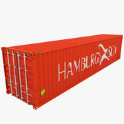 HAMBURG SUD Shipping Container 3d model
