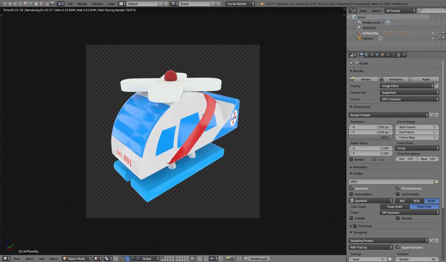 Avião de brinquedo royalty-free 3d model - Preview no. 16