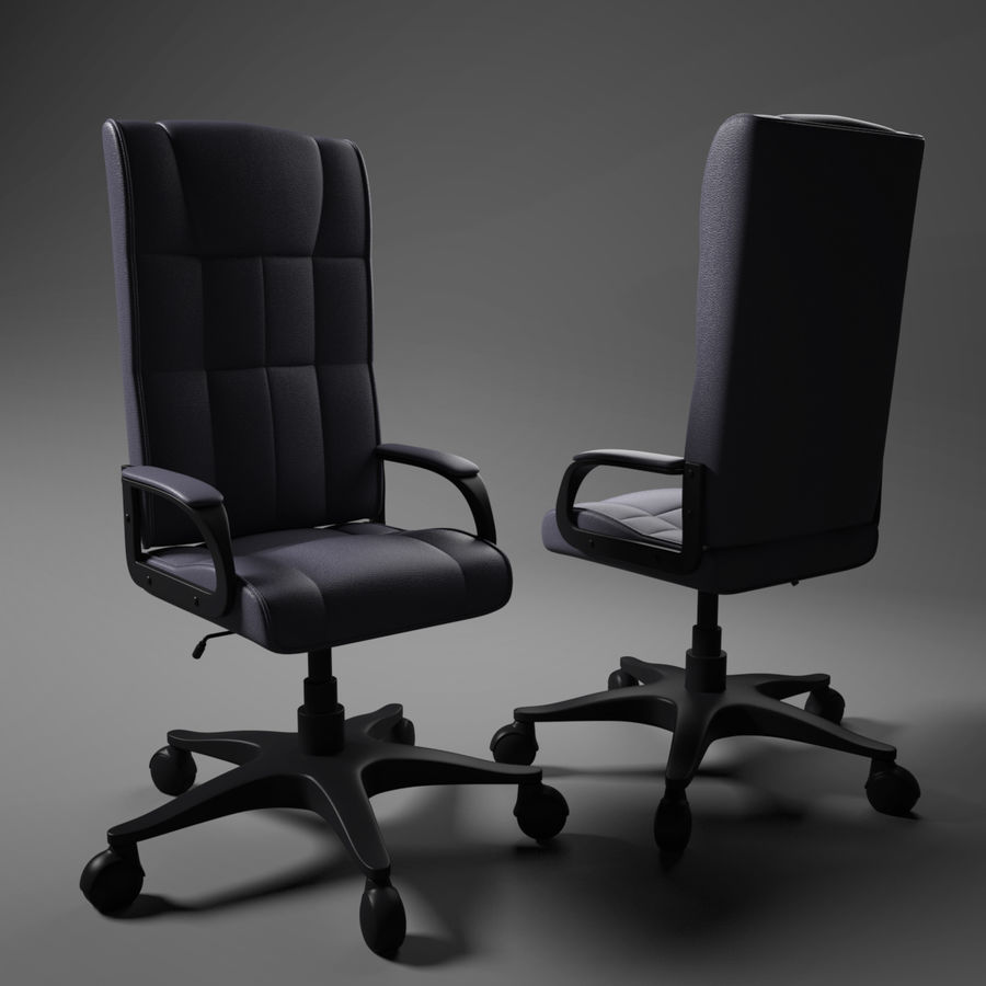 Computer Chair royalty-free 3d model - Preview no. 1