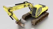 低聚挖掘机 3d model