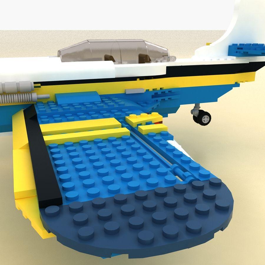 Avião LEGO 31011 royalty-free 3d model - Preview no. 9