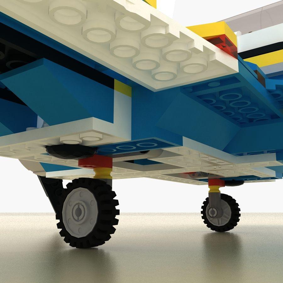 Avião LEGO 31011 royalty-free 3d model - Preview no. 12