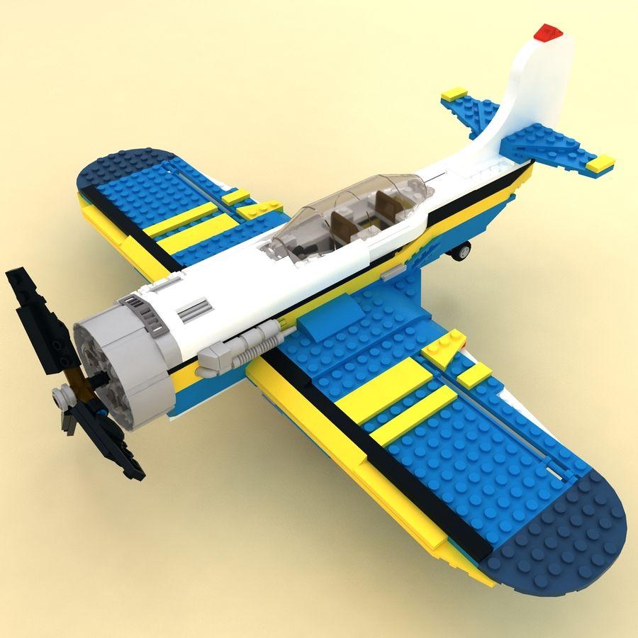 Avião LEGO 31011 royalty-free 3d model - Preview no. 2