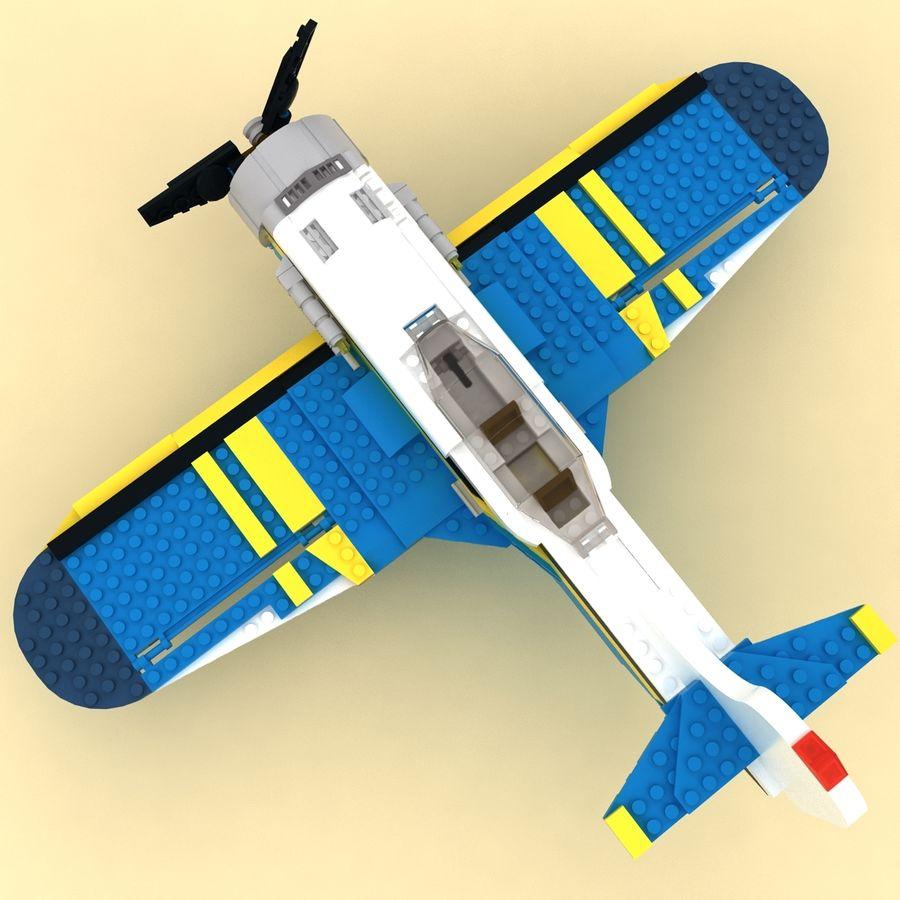 Avião LEGO 31011 royalty-free 3d model - Preview no. 5