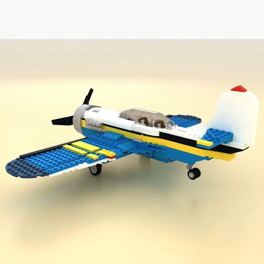 Avião LEGO 31011 royalty-free 3d model - Preview no. 4