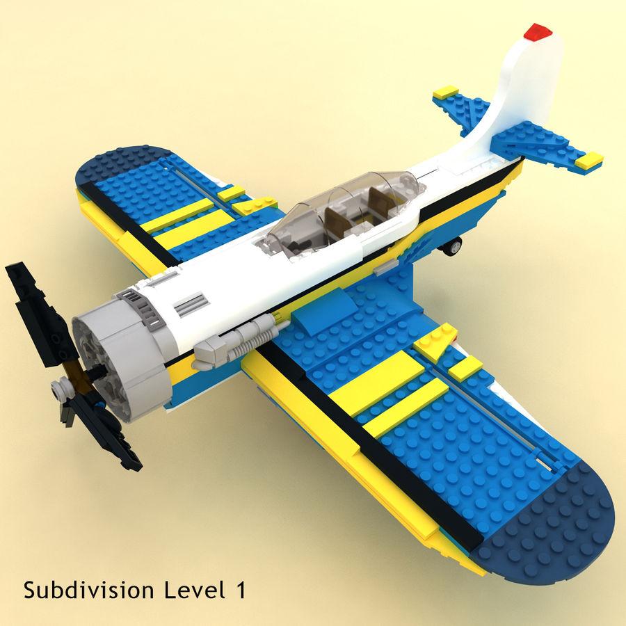 Avião LEGO 31011 royalty-free 3d model - Preview no. 3