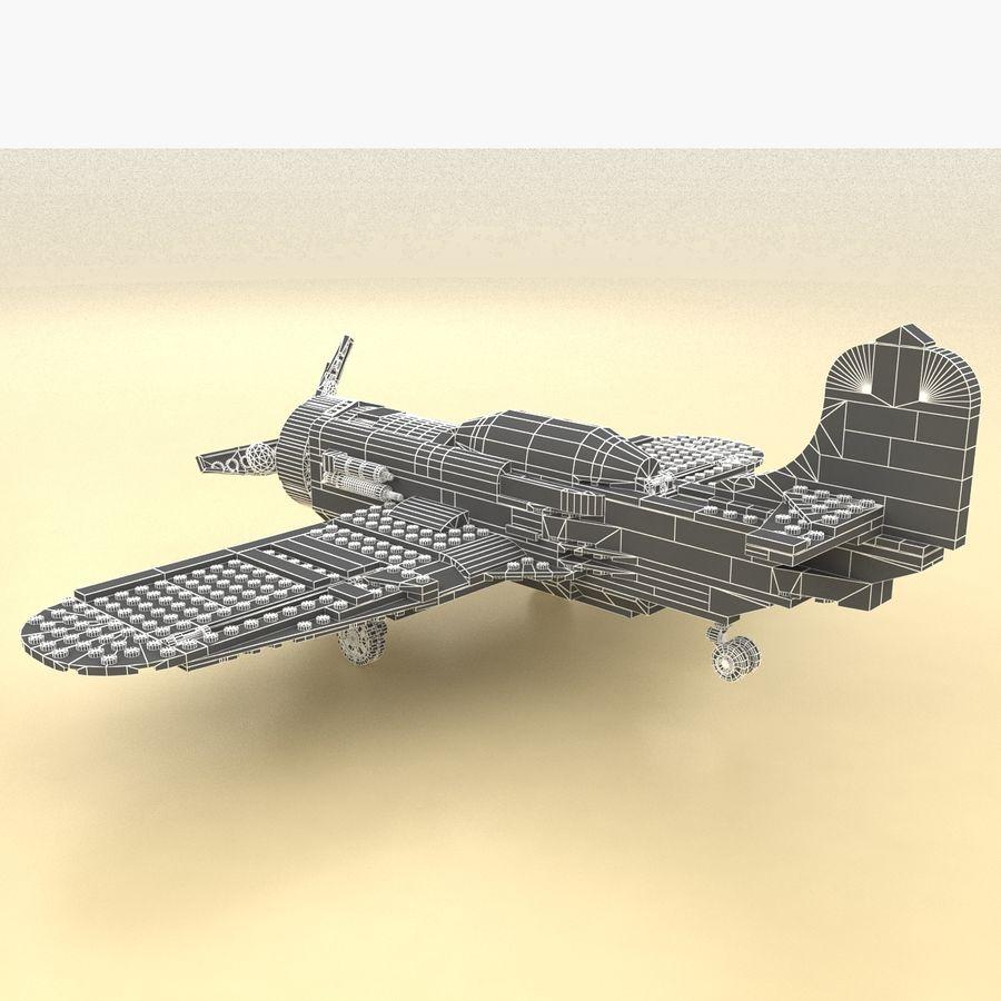 Avião LEGO 31011 royalty-free 3d model - Preview no. 20