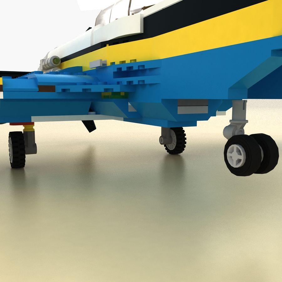 Avião LEGO 31011 royalty-free 3d model - Preview no. 11