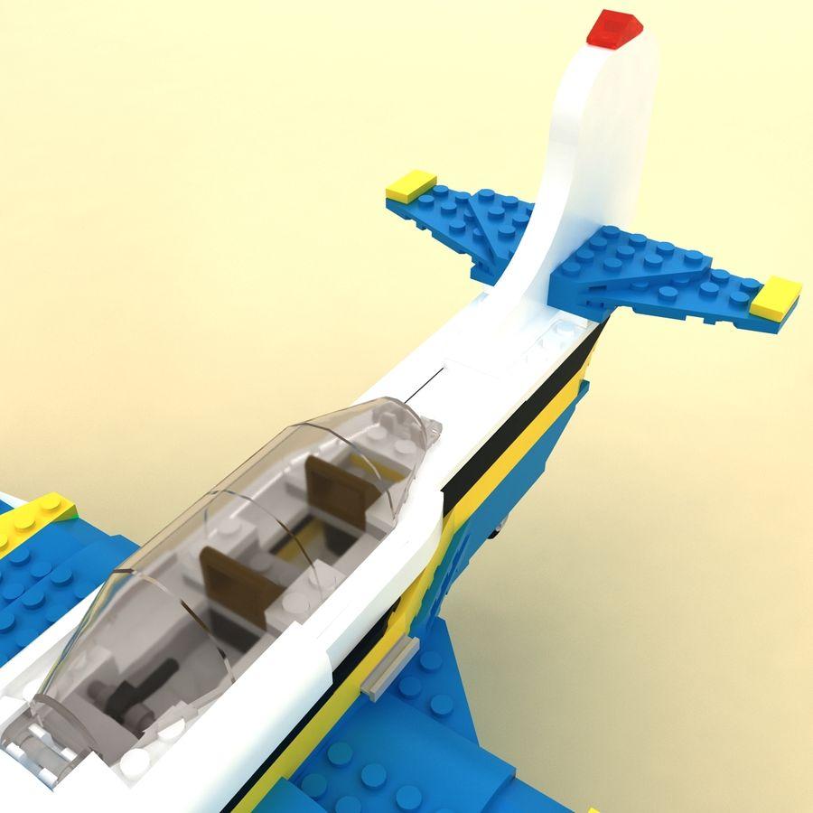 Avião LEGO 31011 royalty-free 3d model - Preview no. 10