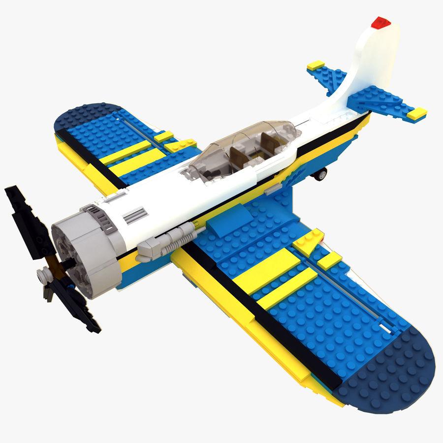 Avião LEGO 31011 royalty-free 3d model - Preview no. 1