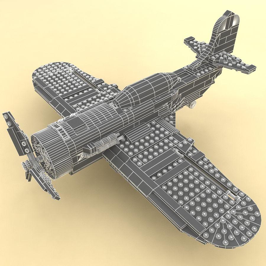 Avião LEGO 31011 royalty-free 3d model - Preview no. 13