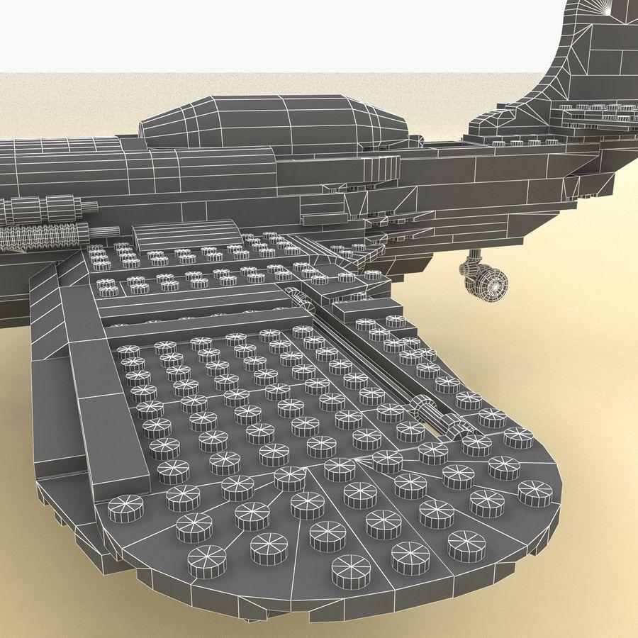 Avião LEGO 31011 royalty-free 3d model - Preview no. 15